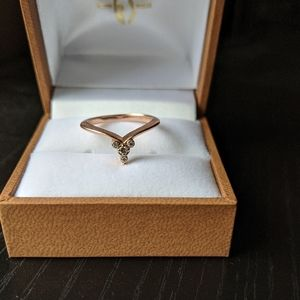 🆕14K Rose Gold & Diamond Ring
